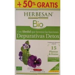 Herbesan Bio Depurativo Detox 20 Ampollas + 10 Gratis