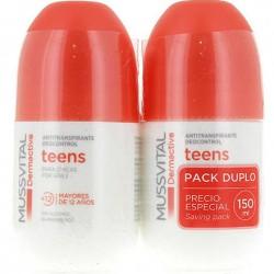 Mussvital Dermactive Desodorante Teens Chica 75 ml + 75 ml DUPLO