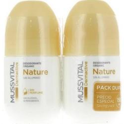 Mussvital Dermactive Desodorante Nature Sin Aluminio 75 ml + 75 ml DUPLO