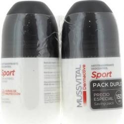 Mussvital Dermactive Desodorante Sport Hombre 75 ml + 75 ml DUPLO