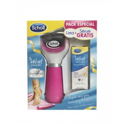 Dr Scholl Velvet Smooth Lima Electronica Pies Velvet Smooth Diamond Crystals Rosa + Serum pies