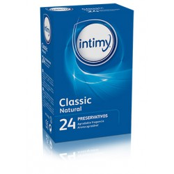 CLASSIC NATURAL 24 Preservativos Lubricados Intimy
