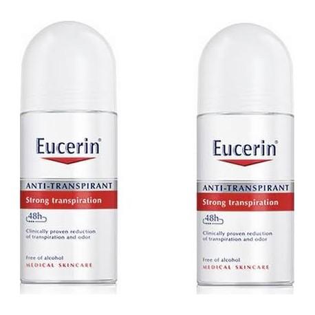 Eucerin Desodorante Roll-on Anti-Transpirante 50ml + 50 ml DUPLO