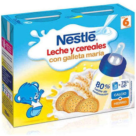 Nestle Leche y Cereales con Galleta Maria (Brik 250 Ml 2U)