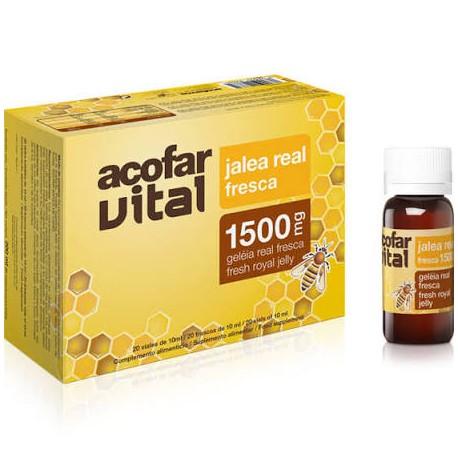 Acofarvital Jalea Real Fresca 1500 Mg  20 Viales De 10 ml