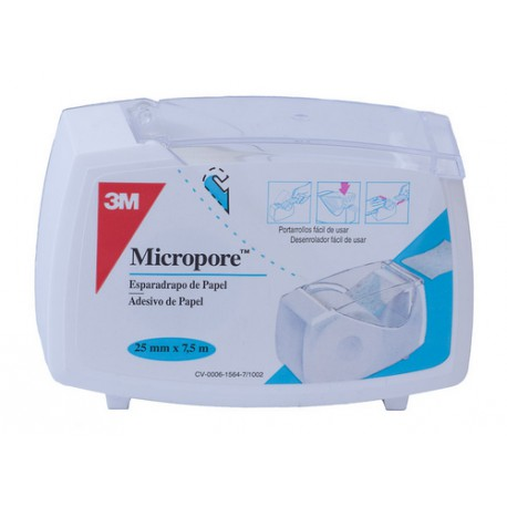 ESPARADRAPO PAPEL MICROPORE BLANCO 7,5X2,5