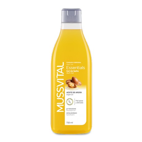 Mussvital Gel de baño Essentials Argán 750 ml