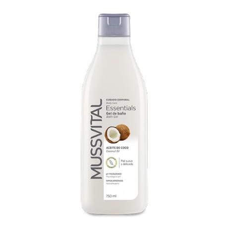 Mussvital Gel de baño Essentials Coco 750 ml