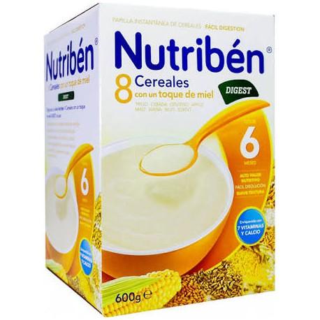 Nutriben 8 cereales y miel Digest 600g +6meses