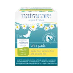 Compresas Natracare Regular Normal Ultra Con Alas 14 Uds