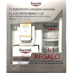 Eucerin Hyaluron Filler Piel Seca Crema de día Fps 15 + Solución Micelar Limpiadora + Fotoprotección