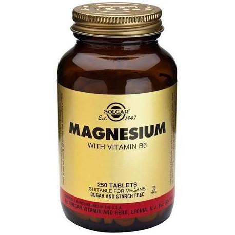 Solgar Magnesio con Vitamina B6 100 comprimidos