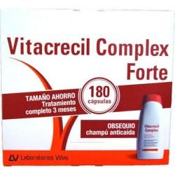 Vitacrecil Complex Forte 180 Cápsulas + Gratis Champú 200 Ml