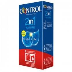 Preservativo Control Duo Nature 2en1 +Gel 6 uds