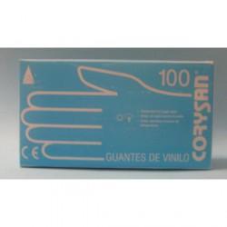 GUANTES CORYSAN VINILO T/M 100 UND.