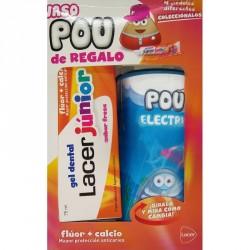 Lacer junior gel dentífrico fresa 75ml + Vaso pou Azul