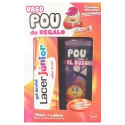 Lacer junior gel dentífrico fresa 75ml + Vaso pou Morado