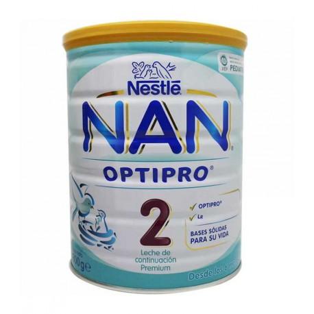 Nan 2 Optipro Leche De Continuación 800 Gr 6 Unidades
