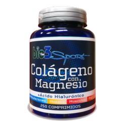 Bio 3 Sport Colageno con Magnesio + Ácido Hialurónico + Vit C 250 Comprimidos