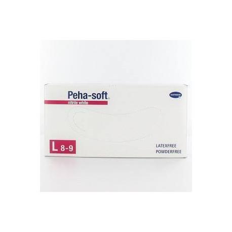 GUANTES PEHA-SOFT NITRILO BLANCO T/P 100