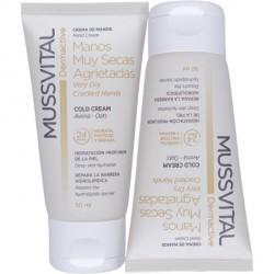 Mussvital Dermactive crema para manos muy secas-agrietadas con avena hidratación profunda pack 2 unidades