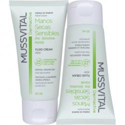 Mussvital Dermactive crema de manos secas y sensibles 2x50ml