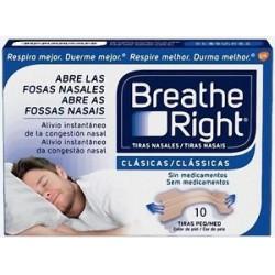 Breathe Right tiras nasales pequeñas-medianas 10uds