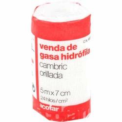 ACOFARMA VENDA DE GASA CAMBRIC HIDRATANTE ÓFILA 5M X 7CM 1U