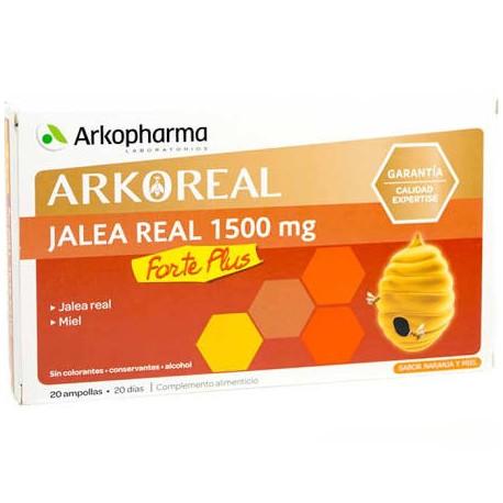 Arkopharma Jalea Real 1500 mg Forte Plus 20 Ampollas