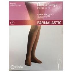 Media Larga Farmalastic C.Fuerte Blonda T-Grande 1uds