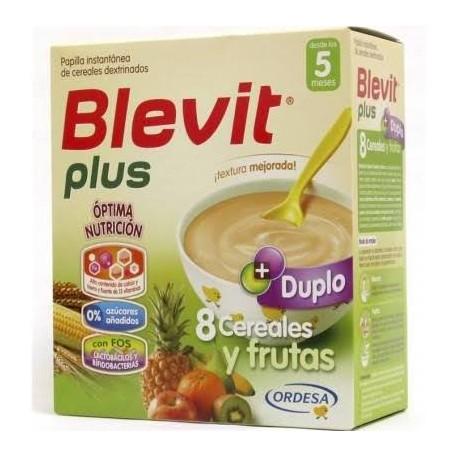 Blevit plus Duplo 8 Cereales  y frutas Desde los 5 meses  600 gramos