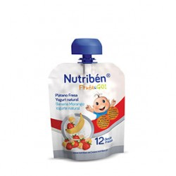 Nutriben Fruta & GO! Plátano, fresa y yogurt natural +12m