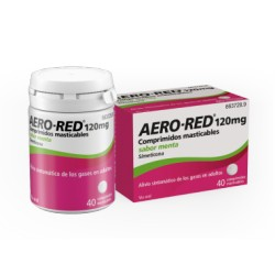 Aero Red 120 mg 40 Comprimidos Menta Masticables