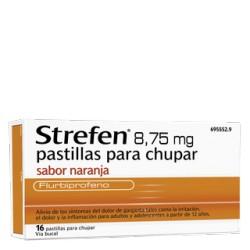 Strefen 8,75MG pastillas para chupar Naranja Sin Azúcar