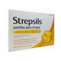 Strepsils 24 pastillas sabor Miel y Limón