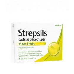 Strepsils 24 pastillas Sabor Limón sin Azúcar