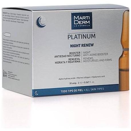 Night Renew Platinum Martiderm 30 Ampollas
