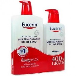 Eucerin Pack Gel de Baño Piel Sensible 1000 ml + 400 ml