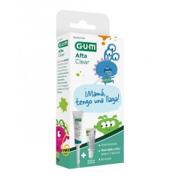 Gum Gel Afta clear infantil ,10ml + REGALO muestra Gum Kids Gel dentífrico, 12ml