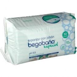 Begobaño esponja enjabonada desechable 30uds