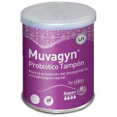 Muvagyn Tampon Probiotico Super Aplicador 9 Unidades