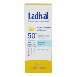 Ladival Piel Sensible o alérgicas Facial Spf 50+ Gel-Crema Oil Free 75ml