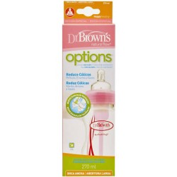 Dr Browns Biberón Options Boca Ancha Rosa 270ml