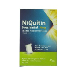 NIQUITIN FRESHMINT 4 MG CHICLES MEDICAMENTOSOS, 30 chicles