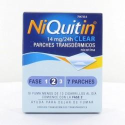 NIQUITIN CLEAR 14 mg, 24 HORAS PARCHE TRANSDERMICO , 7 parches