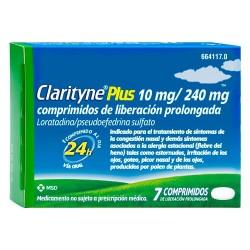 CLARITYNE PLUS 10mg/240mg COMPRIMIDOS DE LIBERACION PROLONGADA , 7 comprimidos