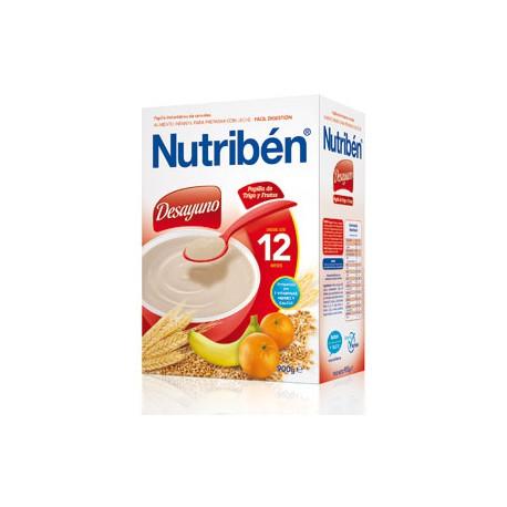 Nutribén Desayuno Papilla de Trigo y Frutas 600g +12M