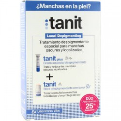 Tanit Plus Crema Especial Despigmentante 15ml + Tanit Stick Despigmentante con Color SPF50+ 4gr