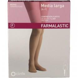 Farmalastic media larga blonda (A-F) compresión fuerte T-Med Beige 1 Pierna
