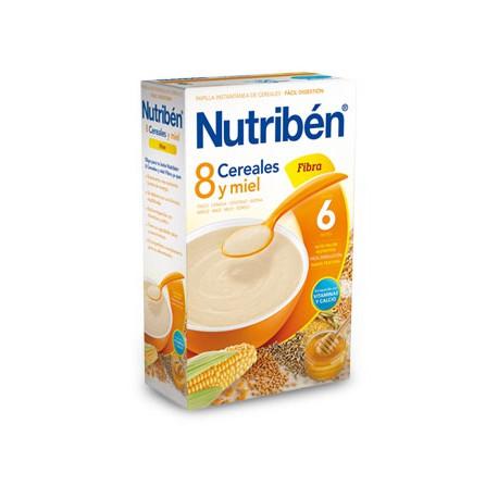Nutriben 600g 8 cereales y miel fibra +6 meses
